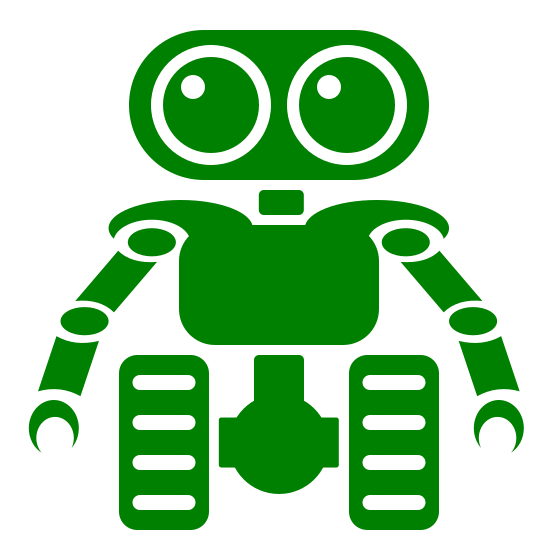 Shiny Green Robot