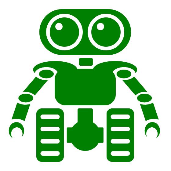 Shiny Green Robot